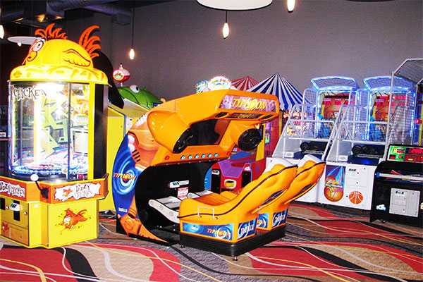 Fun Valley Arcade with the Typhoon ride being the centerpiece